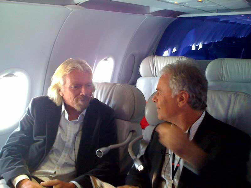 Sir Richard Branson with Howard Green